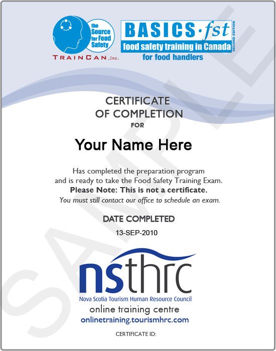 Thrc online training centre available courses view sample certificate yelopaper Choice Image
